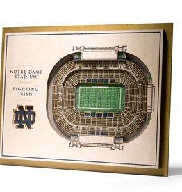 YOU THE FAN Notre Dame Fighting Irish 5-Layer 3D Stadium Wall Art