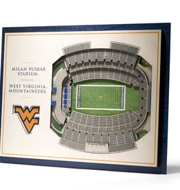 YOU THE FAN West Virginia Mountaineers 5-Layer 3D Stadium Wall Art