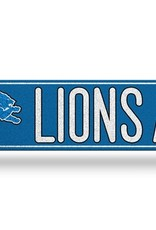 RICO INDUSTRIES Detriot Lions Plastic Bling Street Sign