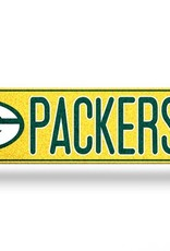 RICO INDUSTRIES Green Bay Packers Plastic Bling Street Sign