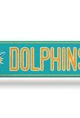 RICO INDUSTRIES Miami Dolphins Plastic Bling Street Sign