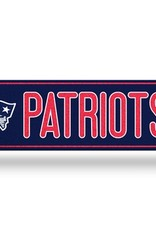 RICO INDUSTRIES New England Patriots Plastic Bling Street Sign