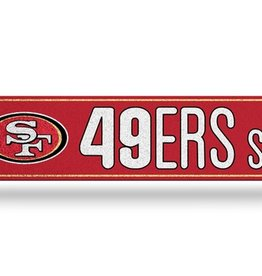 RICO INDUSTRIES San Francisco 49ers Plastic Bling Street Sign