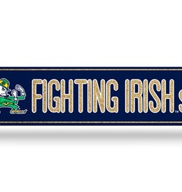 RICO INDUSTRIES Notre Dame Fighting Irish Plastic Bling Street Sign