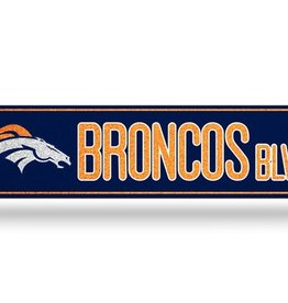RICO INDUSTRIES Denver Broncos Plastic Bling Street Sign