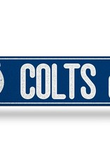 RICO INDUSTRIES Indianapolis Colts Plastic Bling Street Sign