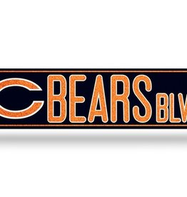 RICO INDUSTRIES Chicago Bears Plastic Bling Street Sign