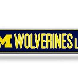 RICO INDUSTRIES Michigan Wolverines Plastic Bling Street Sign