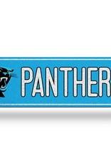 RICO INDUSTRIES Carolina Panthers Plastic Bling Street Sign