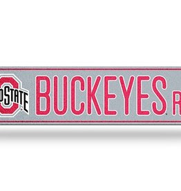 RICO INDUSTRIES Ohio State Buckeyes Plastic Bling Street Sign