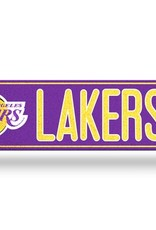 RICO INDUSTRIES Los Angeles Lakers Plastic Bling Street Sign