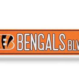 RICO INDUSTRIES Cincinnati Bengals Plastic Bling Street Sign