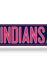 RICO INDUSTRIES Cleveland Indians Plastic Bling Street Sign