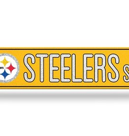 RICO INDUSTRIES Pittsburgh Steelers Plastic Bling Street Sign