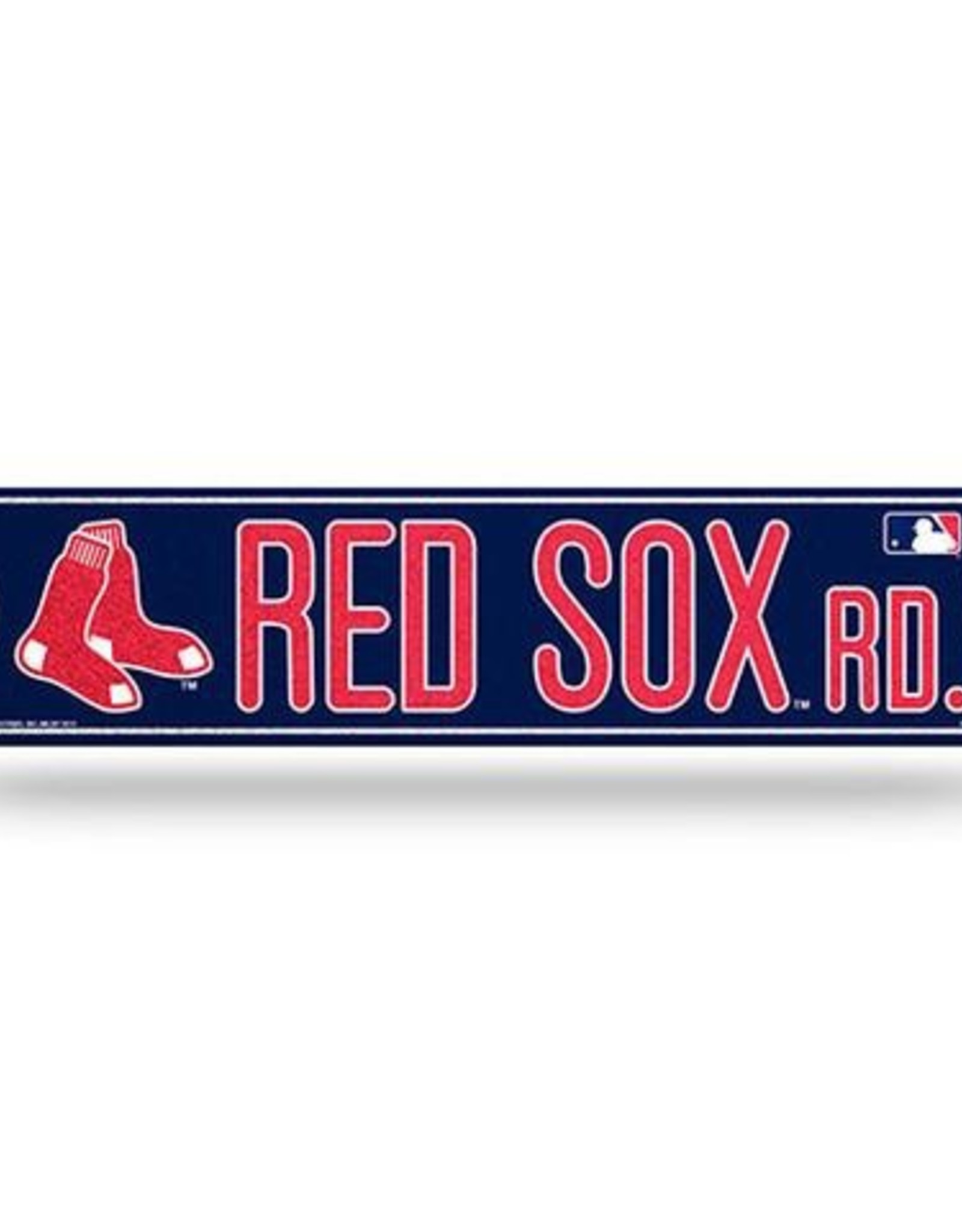 RICO INDUSTRIES Boston Red Sox Plastic Bling Street Sign