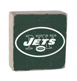 RUSTIC MARLIN New York Jets Rustic Wood Team Block