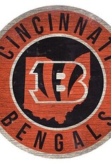 FAN CREATIONS Cincinnati Bengals Round State Sign