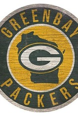 FAN CREATIONS Green Bay Packers Round State Sign