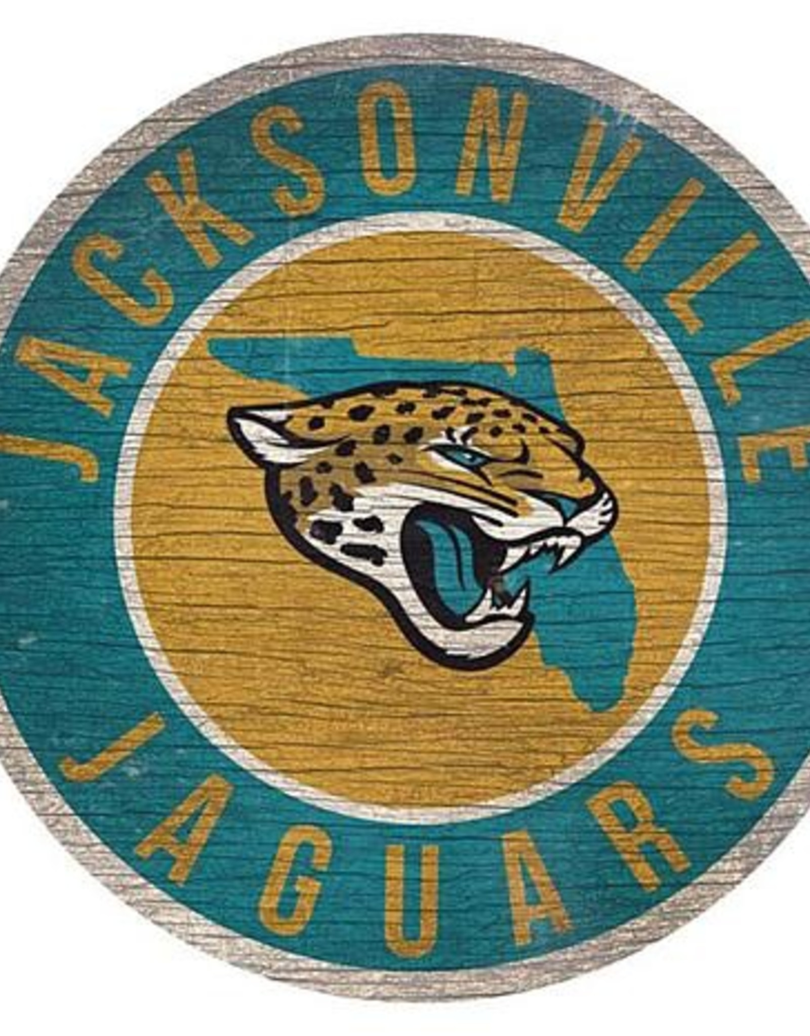 FAN CREATIONS Jacksonville Jaguars Round State Sign