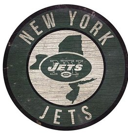 FAN CREATIONS New York Jets Round State Sign