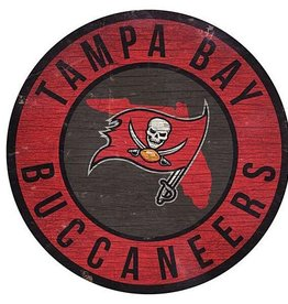 FAN CREATIONS Tampa Bay Buccaneers Round State Sign