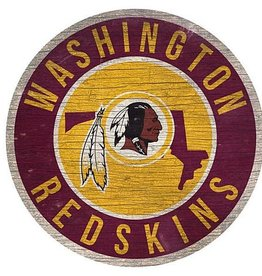 FAN CREATIONS Washington Redskins Round State Sign