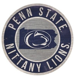 FAN CREATIONS Penn State Nittany Lions Round State Sign