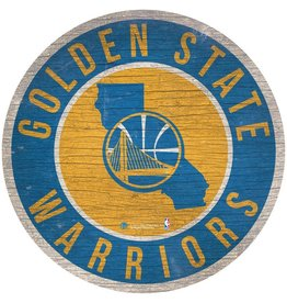 FAN CREATIONS Golden State Warriors Round State Sign