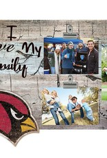 FAN CREATIONS Arizona Cardinals Love My Family Photo Clip Frame
