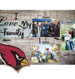 FAN CREATIONS Arizona Cardinals Love My Family Photo Clip Frame