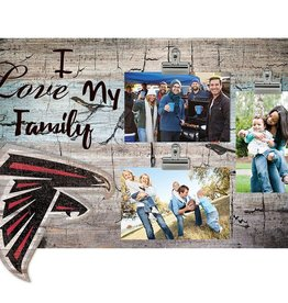 FAN CREATIONS Atlanta Falcons Love My Family Photo Clip Frame