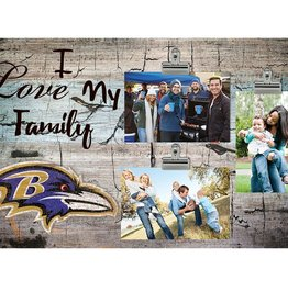 FAN CREATIONS Baltimore Ravens Love My Family Photo Clip Frame