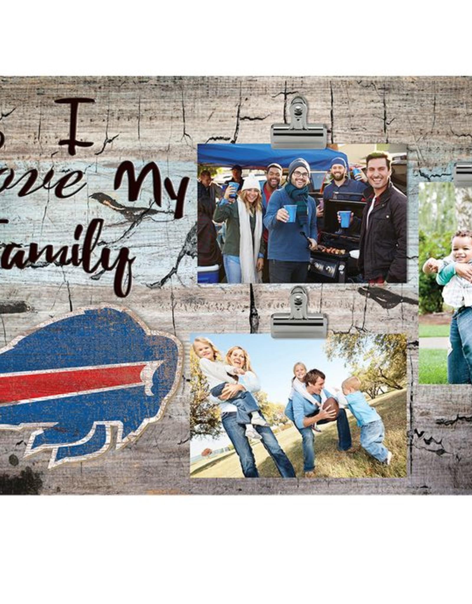 FAN CREATIONS Buffalo Bills Love My Family Photo Clip Frame