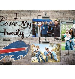 FAN CREATIONS Buffalo Bills Love My Family Photo Clip Frame