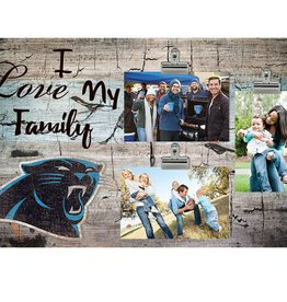 FAN CREATIONS Carolina Panthers Love My Family Photo Clip Frame