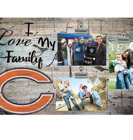 FAN CREATIONS Chicago Bears Love My Family Photo Clip Frame