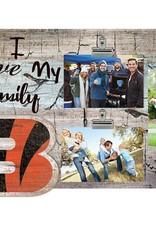 FAN CREATIONS Cincinnati Bengals Love My Family Photo Clip Frame