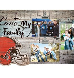 FAN CREATIONS Cleveland Browns Love My Family Photo Clip Frame