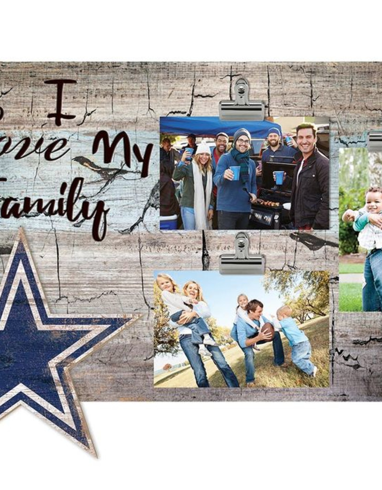 FAN CREATIONS Dallas Cowboys Love My Family Photo Clip Frame
