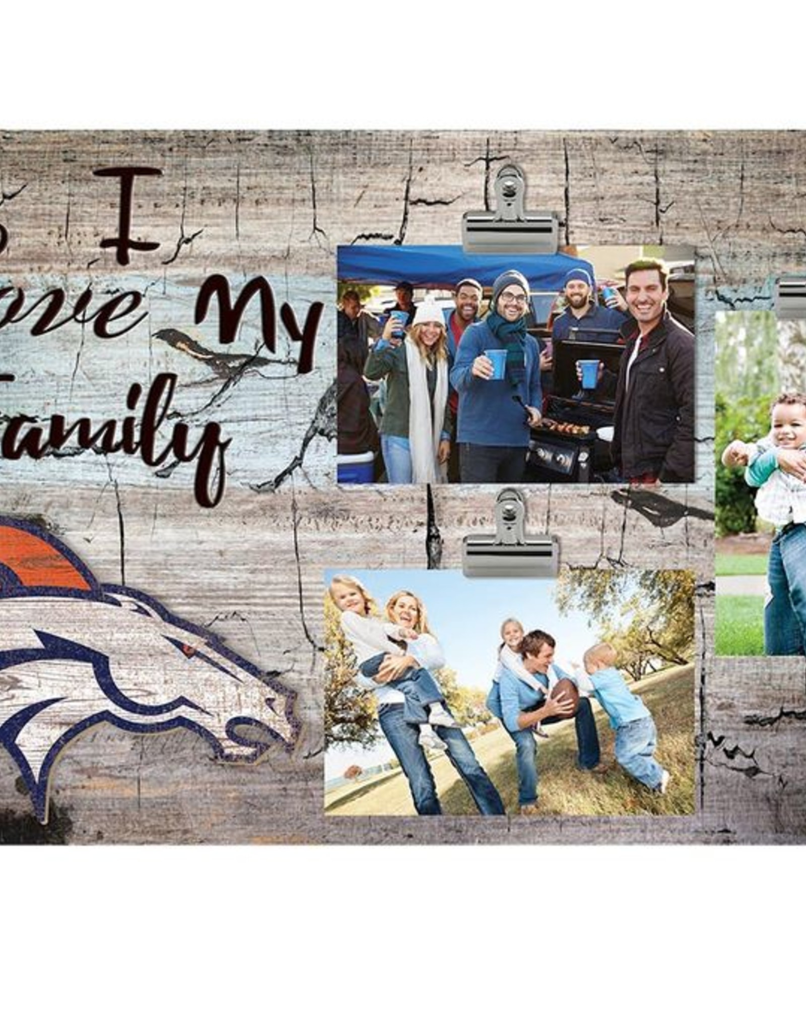 FAN CREATIONS Denver Broncos Love My Family Photo Clip Frame