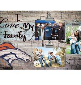FAN CREATIONS Denver Broncos Love My Family Photo Clip Frame