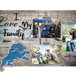 FAN CREATIONS Detriot Lions Love My Family Photo Clip Frame