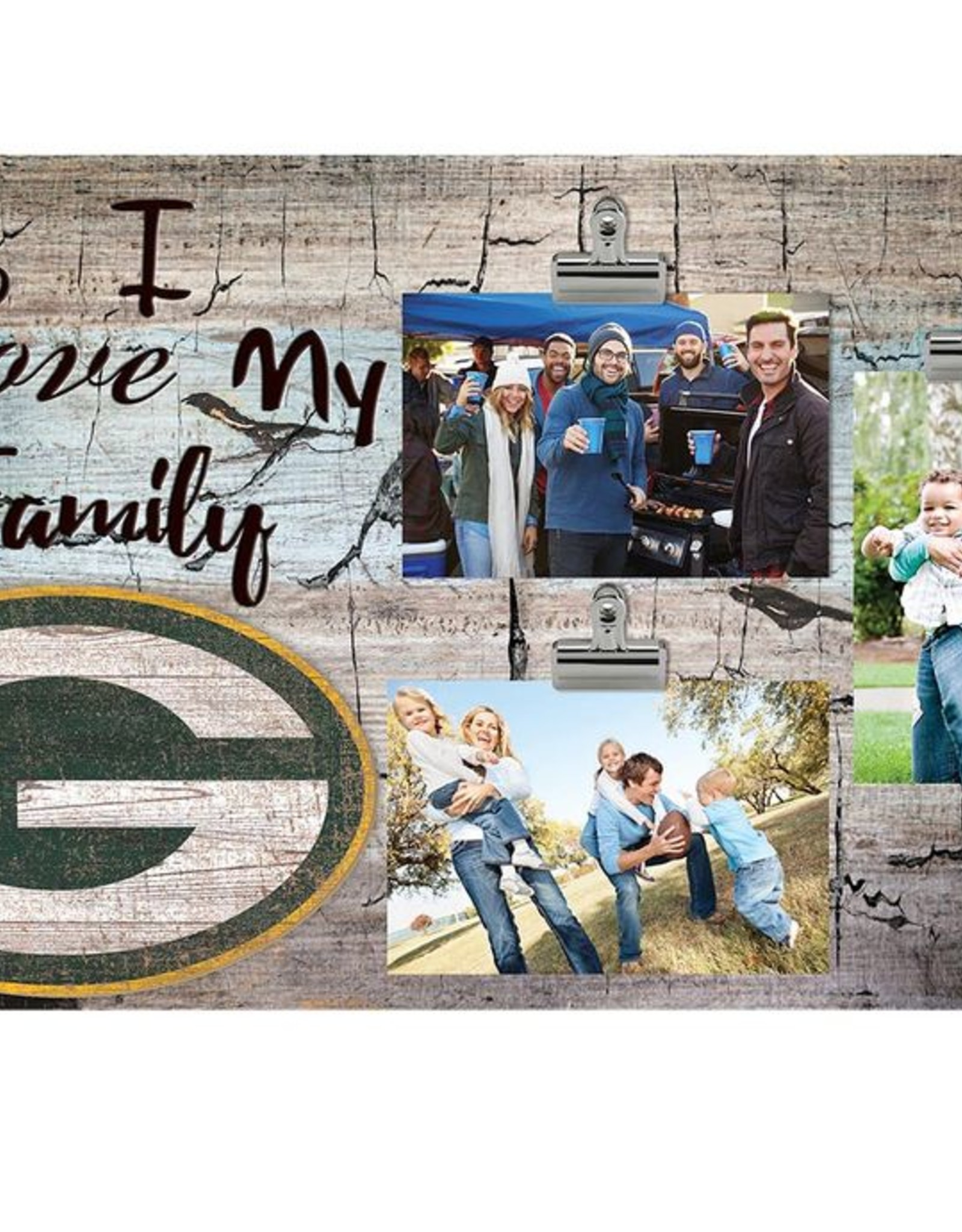 FAN CREATIONS Green Bay Packers Love My Family Photo Clip Frame