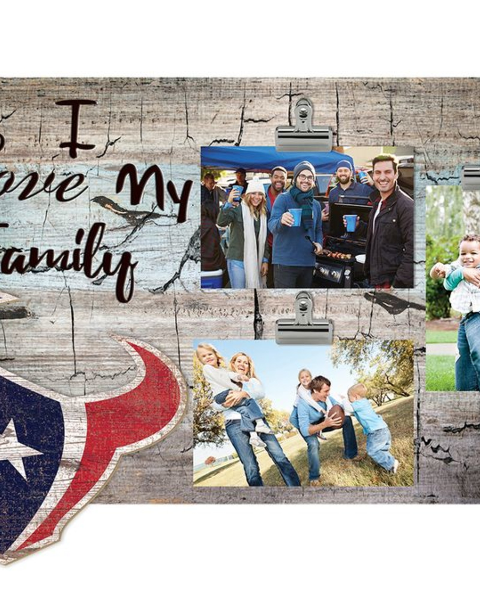 FAN CREATIONS Houston Texans Love My Family Photo Clip Frame