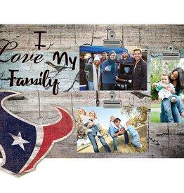 FAN CREATIONS Houston Texans Love My Family Photo Clip Frame