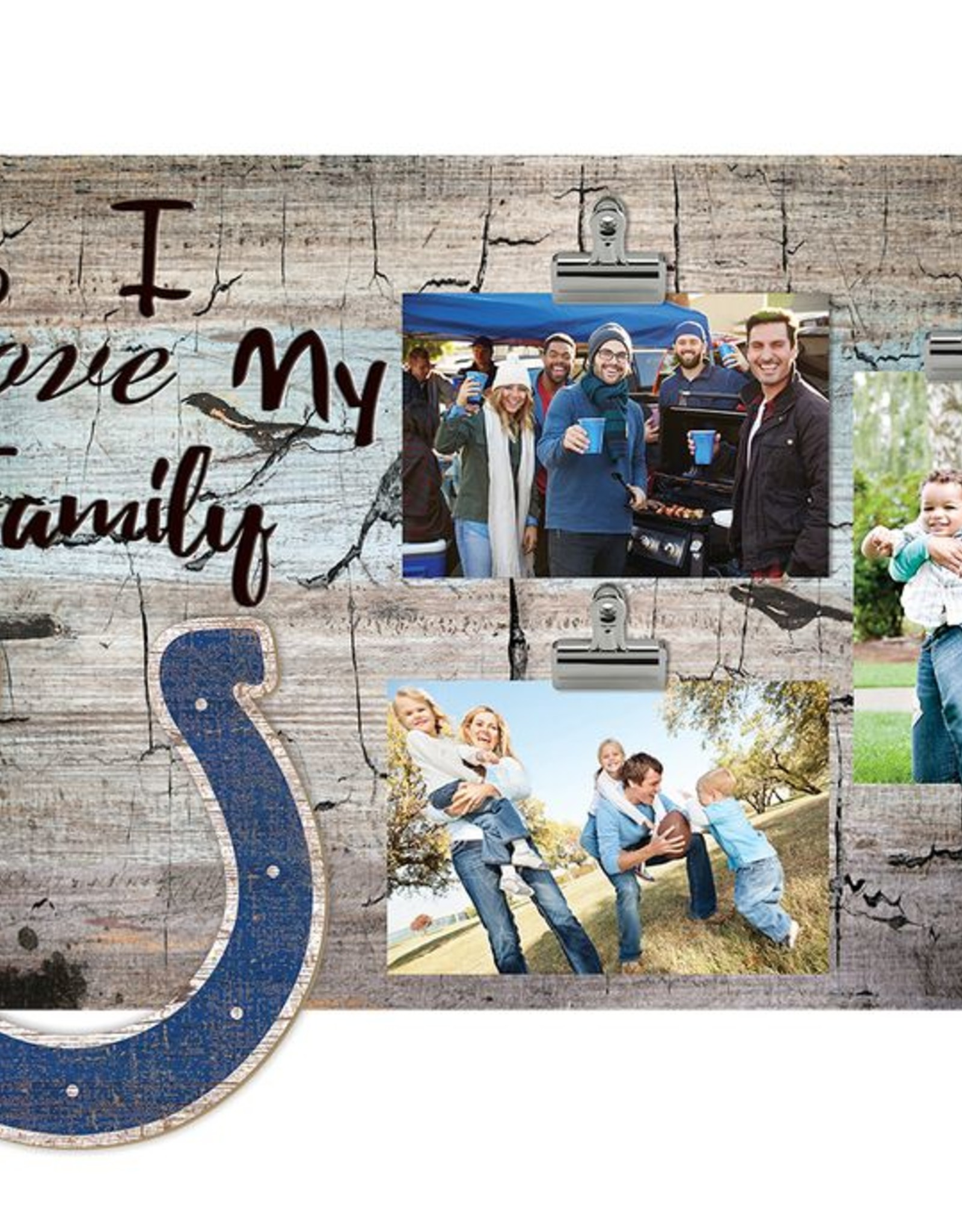 FAN CREATIONS Indianapolis Colts Love My Family Photo Clip Frame