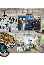 FAN CREATIONS Jacksonville Jaguars Love My Family Photo Clip Frame