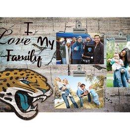 FAN CREATIONS Jacksonville Jaguars Love My Family Photo Clip Frame