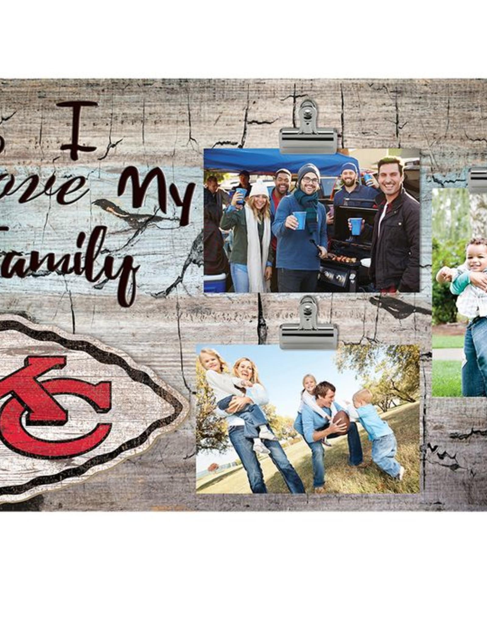 FAN CREATIONS Kansas City Chiefs Love My Family Photo Clip Frame