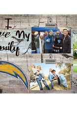 FAN CREATIONS Los Angeles Chargers Love My Family Photo Clip Frame